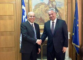 Συνάντηση Βορίδη με τον Ισραηλινό πρέσβη για θέματα συνεργασίας στον γεωργικό τομέα
