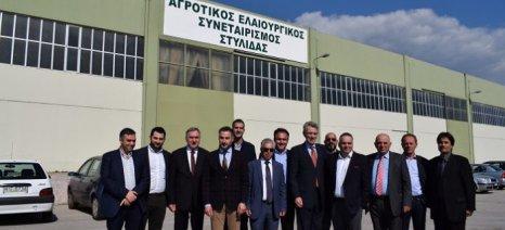 Επίσκεψη του πρέσβη των Η.Π.Α στον Αγροτικό Ελαιουργικό Συνεταιρισμό Στυλίδας
