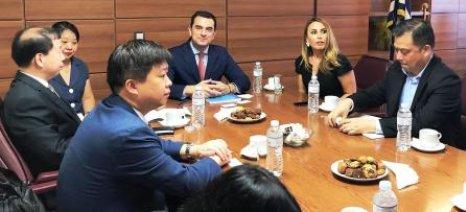 Συνάντηση Σκρέκα με τον Δήμαρχο της Dongguan για προώθηση αγροτικών προϊόντων στην αγορά της Κίνας
