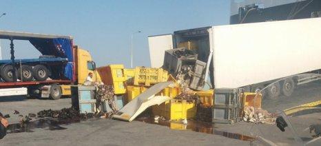 Ατύχημα με υποπροϊόντα σφαγής ζώων στο λιμάνι της Μυτιλήνης