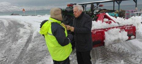 Στις πληγείσες περιοχές της Εύβοιας από τον χιονιά βρέθηκε χθες ο Αποστόλου