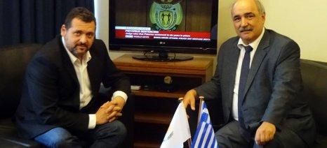 Συνάντηση Μπόλαρη με τον Κύπριο πρέσβη για τις συνέργειες στον αγροδιατροφικό τομέα των δύο χωρών