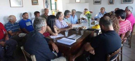Τη Λήμνο επισκέφθηκε ο Μπόλαρης και συζήτησε προβλήματα και λύσεις για τον αγροτικό τομέα του νησιού