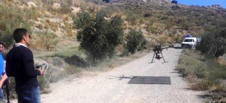 Drones στην υπηρεσία της προστασίας των ελαιώνων σε ισπανικές περιοχές Natura