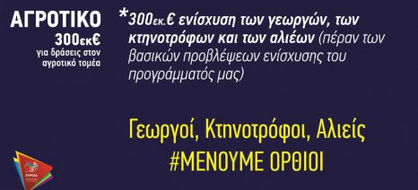 Τμήμα Αγροτικής Πολιτικής ΣΥΡΙΖΑ: Ανικανότητα ή αδιαφορία της κυβέρνησης για τους κτηνοτρόφους