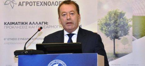 Τις δράσεις του ΥΠΑΑΤ για την κλιματική αλλαγή απαρίθμησε ο Κόκκαλης από το βήμα του 6ου Συνεδρίου Αγροτεχνολογίας