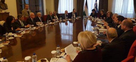 Στη διμερή σύνοδο Ελλάδας  και Παλαιστίνης η Ολυμπία Τελιγιορίδου