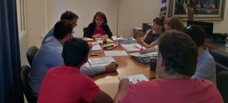 Με τους εκπροσώπους του Συνδέσμου Συνεταιρισμών Μισθωτών Ελληνικών Λιμνοθαλασσών συναντήθηκε η Τελιγιορίδου