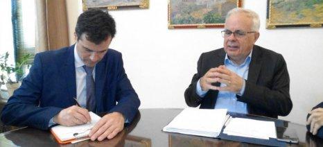 Στη Χίο βρέθηκε τη Δευτέρα για την προετοιμασία του 14ου Περιφερειακού Συνεδρίου ο Αποστόλου