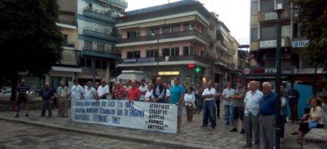 Με ελάχιστη συμμετοχή η συγκέντρωση αγροτών στην κεντρική πλατεία της Νάουσας