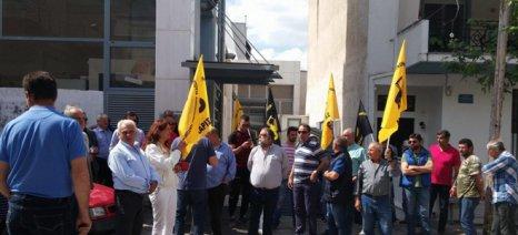 Για να πάρουν γρηγορότερα αποζημιώσεις διαμαρτυρήθηκαν οι αγρότες στην Αγιά σήμερα