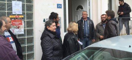 """Παράσταση διαμαρτυρίας από τον σύλλογο """"Μπακόπουλος-Ντρίνιας"""" στο δασαρχείο Αιγίου"""