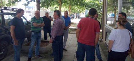 Παράσταση διαμαρτυρίας στα γραφεία του ΕΛΓΑ στο Αγρίνιο