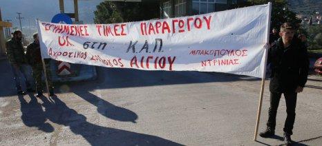 """Συλλαλητήριο σήμερα στις 11 το πρωί στο Αίγιο, από τον Αγροτικό Σύλλογο """"Μπακόπουλος-Ντρίνιας"""""""