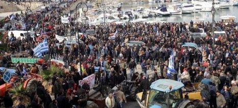 Στο συλλαλητήριο της Παρασκευής συμμετέχουν οι αγρότες του Ηρακλείου