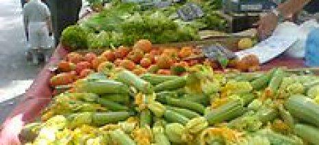 Επάρκεια αγροτικών προϊόντων και οπωρολαχανικών προς το παρόν στις λαϊκές αγορές