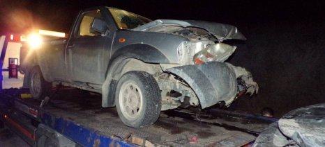 Σύγκρουση δύο αγροτικών οχημάτων με τραυματίες έξω από την Καισάρεια Κοζάνης