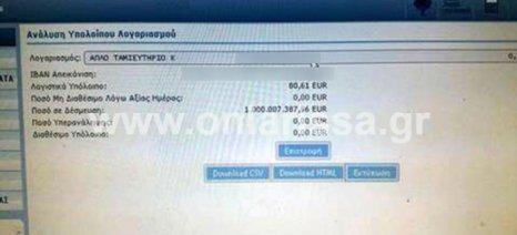 Αγρότης άνοιξε τον τραπεζικό του λογαριασμό και βρήκε ότι χρωστάει… 1 δισ. ευρώ!