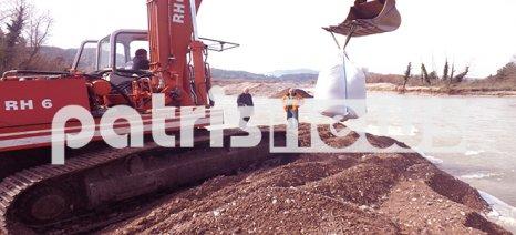 Θωρακίζεται ο κάμπος της Παπαδούς για να αποτραπεί ο κίνδυνος πλημμύρας από τον Αλφειό