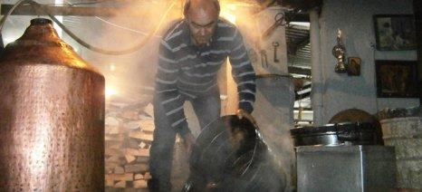 Καθορίστηκε η διάρκεια λειτουργίας των άμβυκων απόσταξης τσίπουρου ανά δήμο στο νομό Σερρών