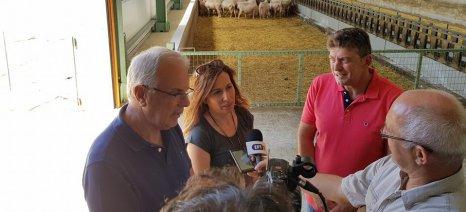 Τη σύγχρονη κτηνοτροφική μονάδα του Αποστόλη Φώτογλου στο Μαυροδένδρι επισκέφτηκε ο Αποστόλου