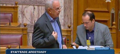 Τι είπε ο Αποστόλου στη Βουλή για την αναθεώρηση της ΚΑΠ υπέρ των νέων αγροτών