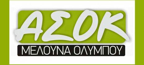 Την Κυριακή θα πραγματοποιηθεί η συνέλευση του ΑΣΟΚ «Η Μελούνα Ολύμπου» στην Τσαριτσάνη