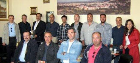Το δήμαρχο Βέροιας επισκέφθηκαν Ισπανοί συνεταιριστές-παραγωγοί κομπόστας