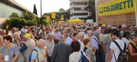 Χιλιάδες Ιταλοί αγρότες διαδήλωσαν εναντίον του ρωσικού εμπάργκο