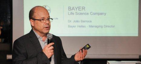Τη νέα εταιρική εικόνα της Bayer παρουσίασε ο διευθύνων σύμβουλος της ελληνικής θυγατρικής, Joao Barroca