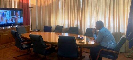 Τηλεδιάσκεψη της ηγεσίας του ΥπΑΑΤ με ΕΔΟΚ, ΠΕΚ και ΣΕΚ για τα προβλήματα της αιγοπροβατοτροφίας