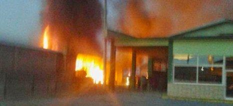 Πυρκαγιά στις εγκαταλελειμμένες εγκαταστάσεις της ΕΑΣ Βέροιας
