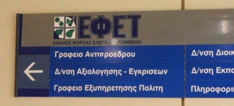 Πρόστιμα συνολικού ύψους 386.117,50 ευρώ σε 28 επιχειρήσεις τροφίμων επέβαλε ο ΕΦΕΤ