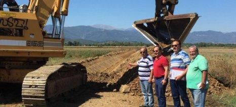 Με γρήγορους ρυθμούς προχωρούν τα έργα αναδασμού στα αγροκτήματα Αγιοπηγής-Μαύρικας στην Καρδίτσα