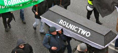 Διαδήλωση Πολωνών αγροτών κατά των κυρώσεων προς τη Ρωσία