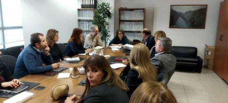 Συνάντηση Τελιγιορίδου με τη διοίκηση του ΕΛΓΟ - ΔΗΜΗΤΡΑ
