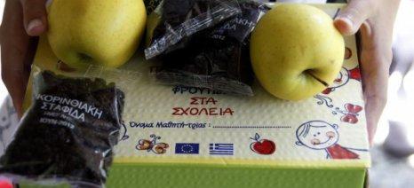 Νέο κοινοτικό πρόγραμμα διανομής γάλακτος, φρούτων και λαχανικών στα σχολεία, με 4,7 εκατ. ευρώ για την Ελλάδα
