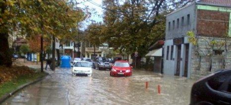 Πλημμύρισαν τα Γιάννενα από την βροχή