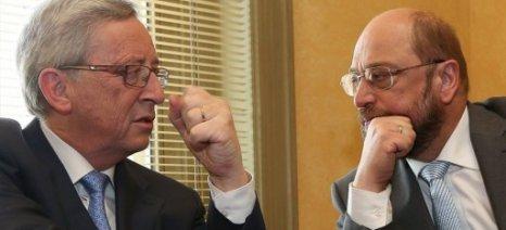 Το ρόλο του ΕΚ στην αξιολόγηση εφαρμογής της συμφωνίας θα εξετάσουν Γιούνκερ και Σούλτς
