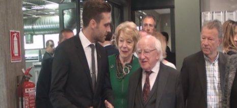 Ελαιοτριβείο της Κορινθίας επισκέφθηκε ο πρόεδρος της Ιρλανδίας, Μάικλ Χίγκινς