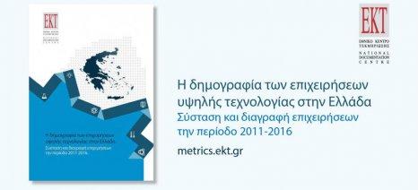 Συστάσεις και διαγραφές επιχειρήσεων υψηλής τεχνολογίας στην Ελλάδα την περίοδο 2011-2016