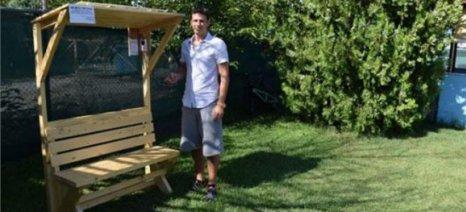 Κατασκευάστηκε το πρώτο ηλιακό ξύλινο παγκάκι είναι γεγονός