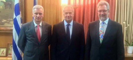 Διερευνητική συνάντηση Βορίδη με τον πρόεδρο της Gartenbau-Versicherung που ασφαλίζει θερμοκήπια