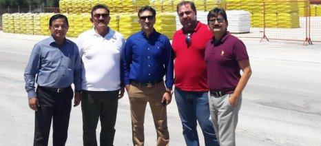 Ανώτερα στελέχη της ινδικής εταιρείας λιπασμάτων Transworld Furtichem επισκέφθηκαν την Compo Expert Hellas