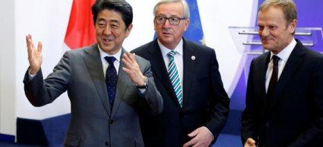 Στην τελική ευθεία βρίσκονται Ιαπωνία και Ευρωπαϊκή Ενωση για σύναψη διμερούς εμπορικής συμφωνίας