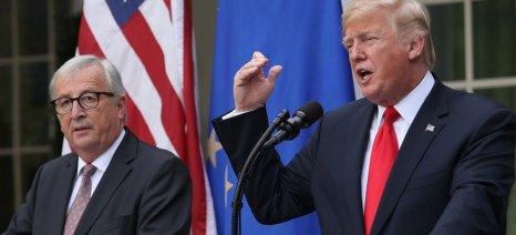 Αποκλιμάκωση στις εμπορικές σχέσεις Ε.Ε.-Η.Π.Α., έτοιμη δηλώνει η Ε.Ε. για περισσότερες εισαγωγές σόγιας