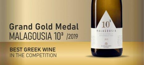Μεγάλο Χρυσό Μετάλλιο για τη Μαλαγουζιά του Οινοποιείου Κανακάρη στον διαγωνισμό της Φρανκφούρτης