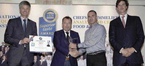 Στην τελετή απονομής Βραβείων Ανώτερης Γεύσης iTQi στους Έλληνες παραγωγούς συμμετείχε ο Κόκκαλης