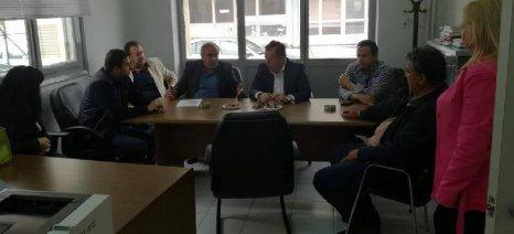 Με την Οργάνωση Παραγωγών Κελυφωτών Ελασσόνας συναντήθηκε ο Κόκκαλης