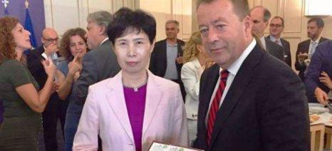 Κόκκαλης σε κινέζικη αντιπροσωπεία: Κρίσιμο ζήτημα για την εμπορική συμφωνία με την Ε.Ε. η προστασία της φέτας